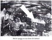 Luftbildaufnahme der Synagoge