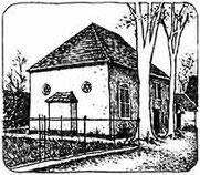 Nachzeichnung der Synagoge von Salomon Korn, Frankfurt a. M., 1975