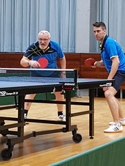 Helmly und Burkhardt das neue alte Erfolgsdoppel des TV Hohenklingen im Tischtennis.