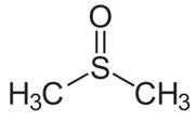 Strukturformel eines DMSO-Moleküls