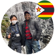 Mr. Sharrydon Bright Masters student in Japan from Zimbabwe