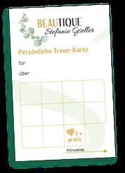 Treue-Karte Kosmetiksalon Beautique Stefanie Gseller in Pfedelbach bei Öhringen