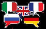 Wir sprechen auch Englisch, Französisch, Italienisch und Russisch