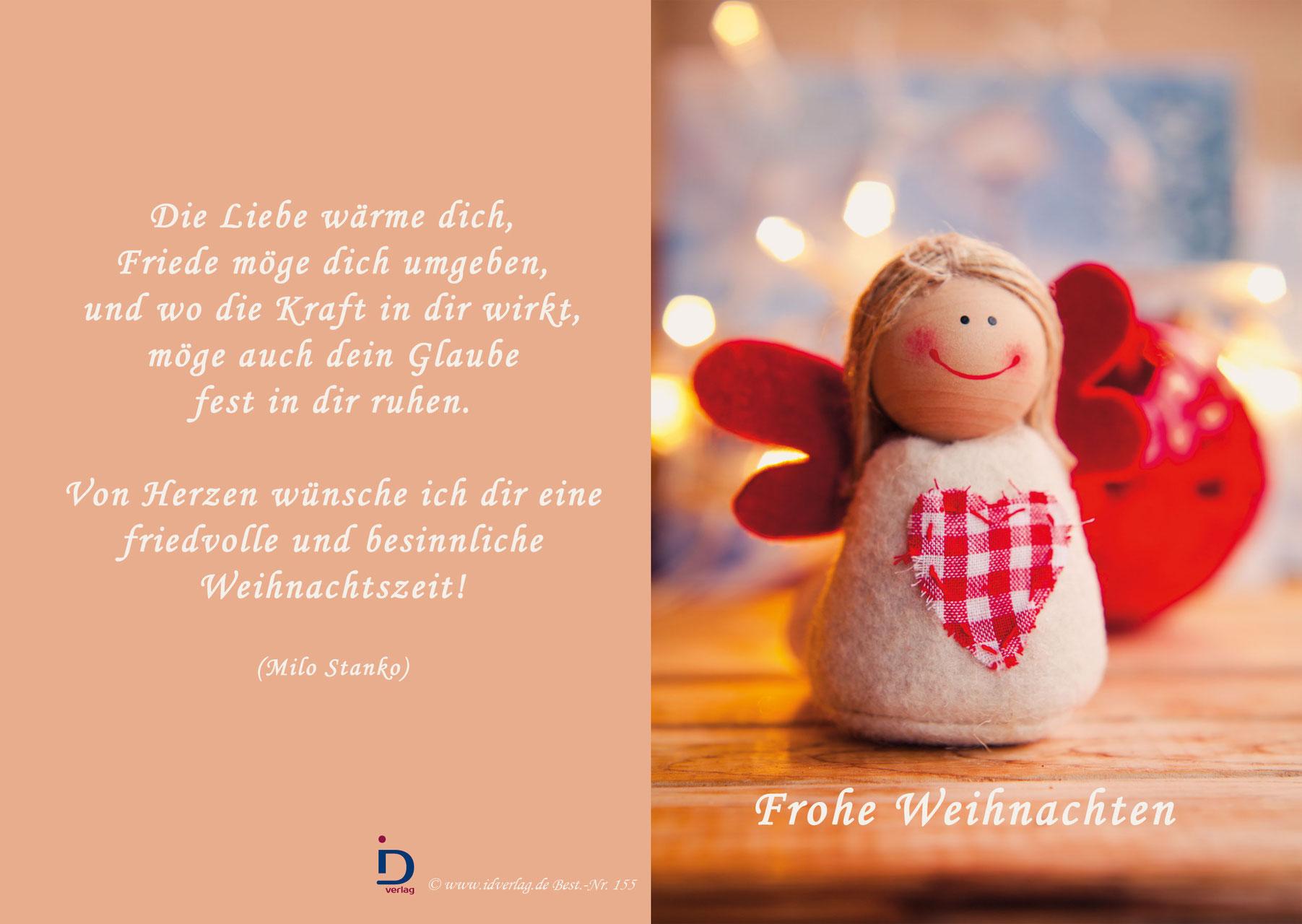 Frohe Weihnachten Ich Liebe Dich.Pfarrkarte Frohe Weihnachten Idverlag Innovativ Christlich Gut