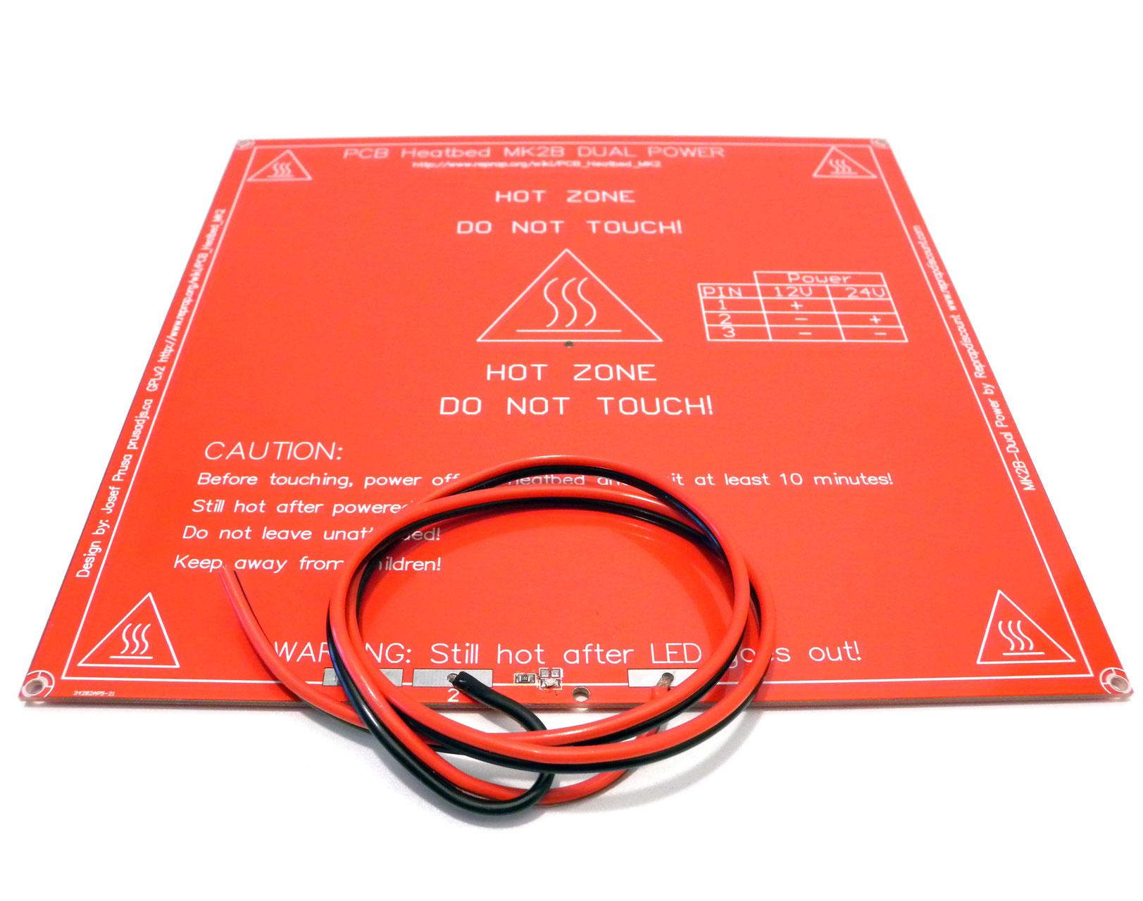 plateau chauffant mk2b 12v 24v pi ces d tach es pour imprimantes 3d. Black Bedroom Furniture Sets. Home Design Ideas