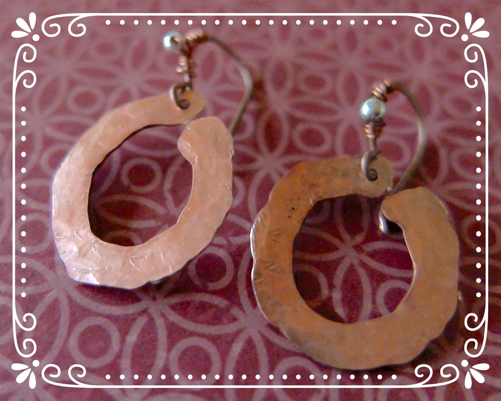 Kupfer Ohrringe - Freistil-Manufaktur