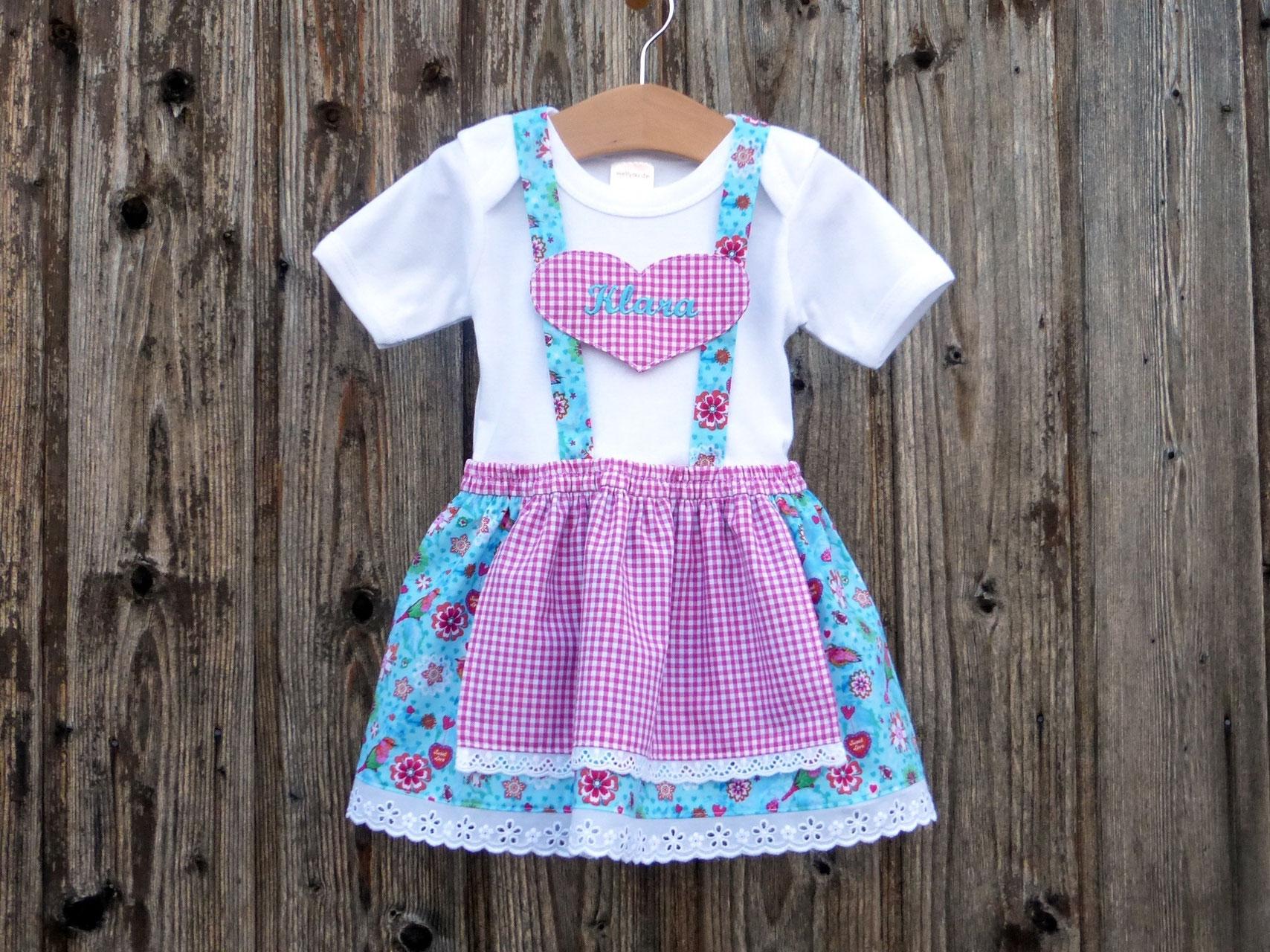 Babys erstes Dirndl, Babybody im Trachtenstil, individuelles Kleid ...