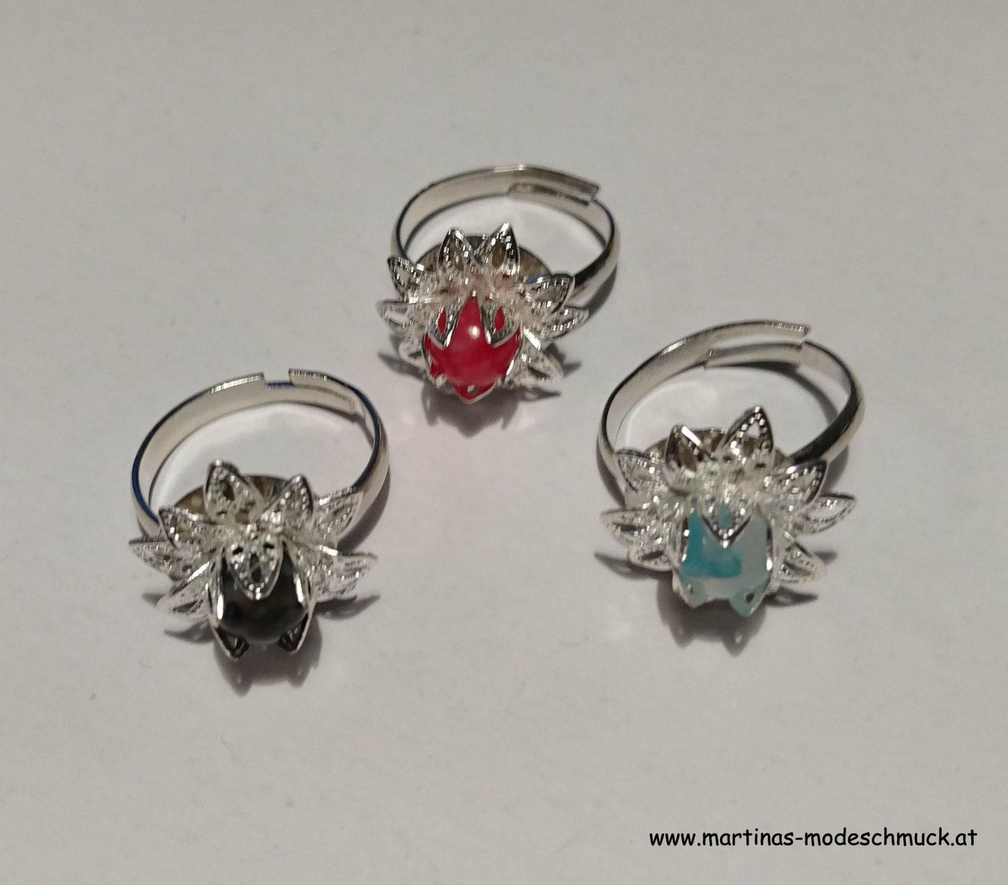 Ringe handgemacht aus Aludraht oder Silberdraht online kaufen ...