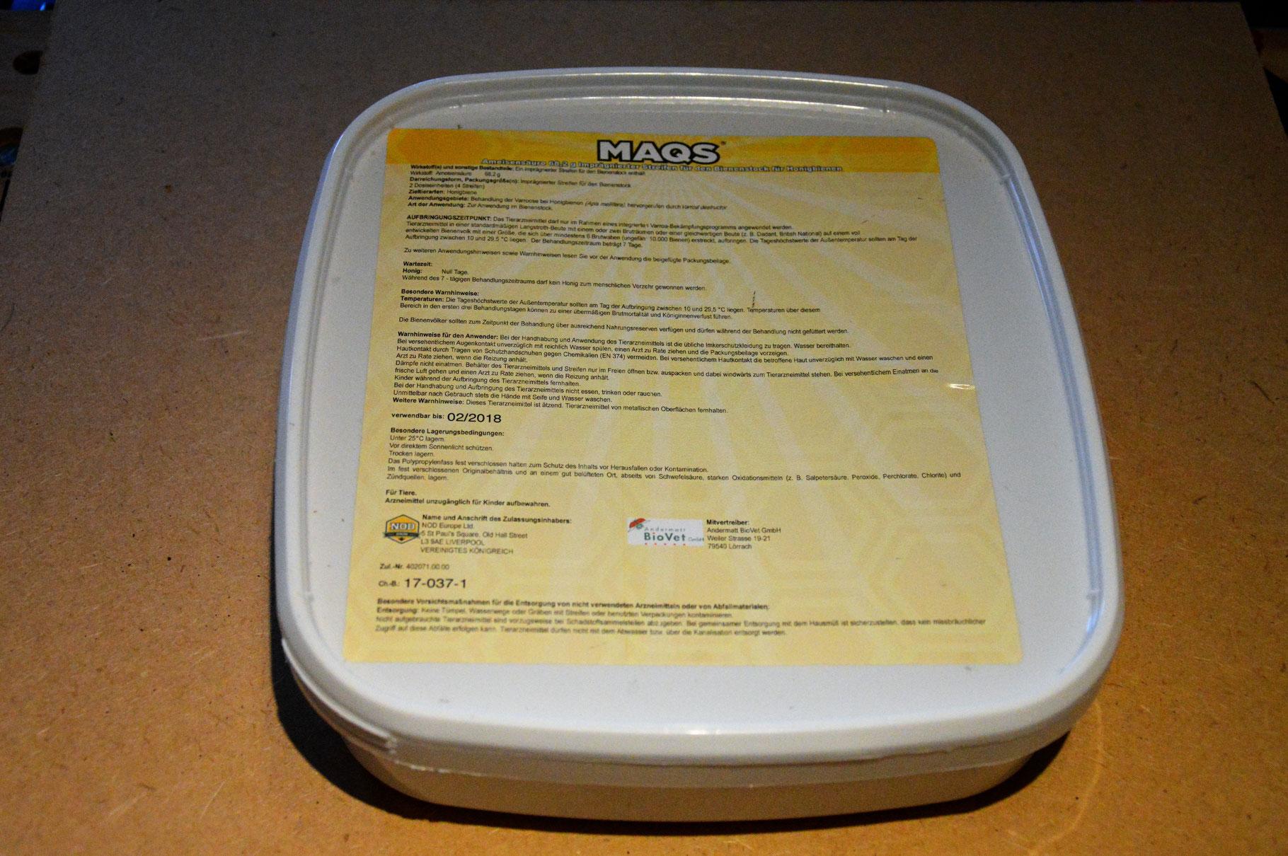MAQS® Kleinpackung - Neanderland Bienen Imkereibedarf Bienenprodukte