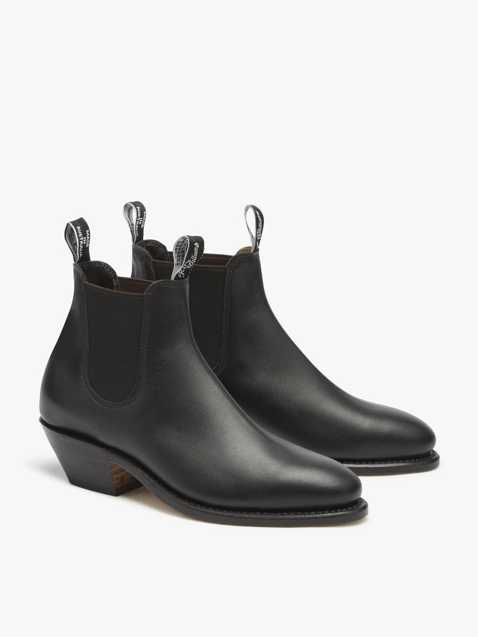 Adelaide Cuban Heel Boot Yearling leather, leather sole