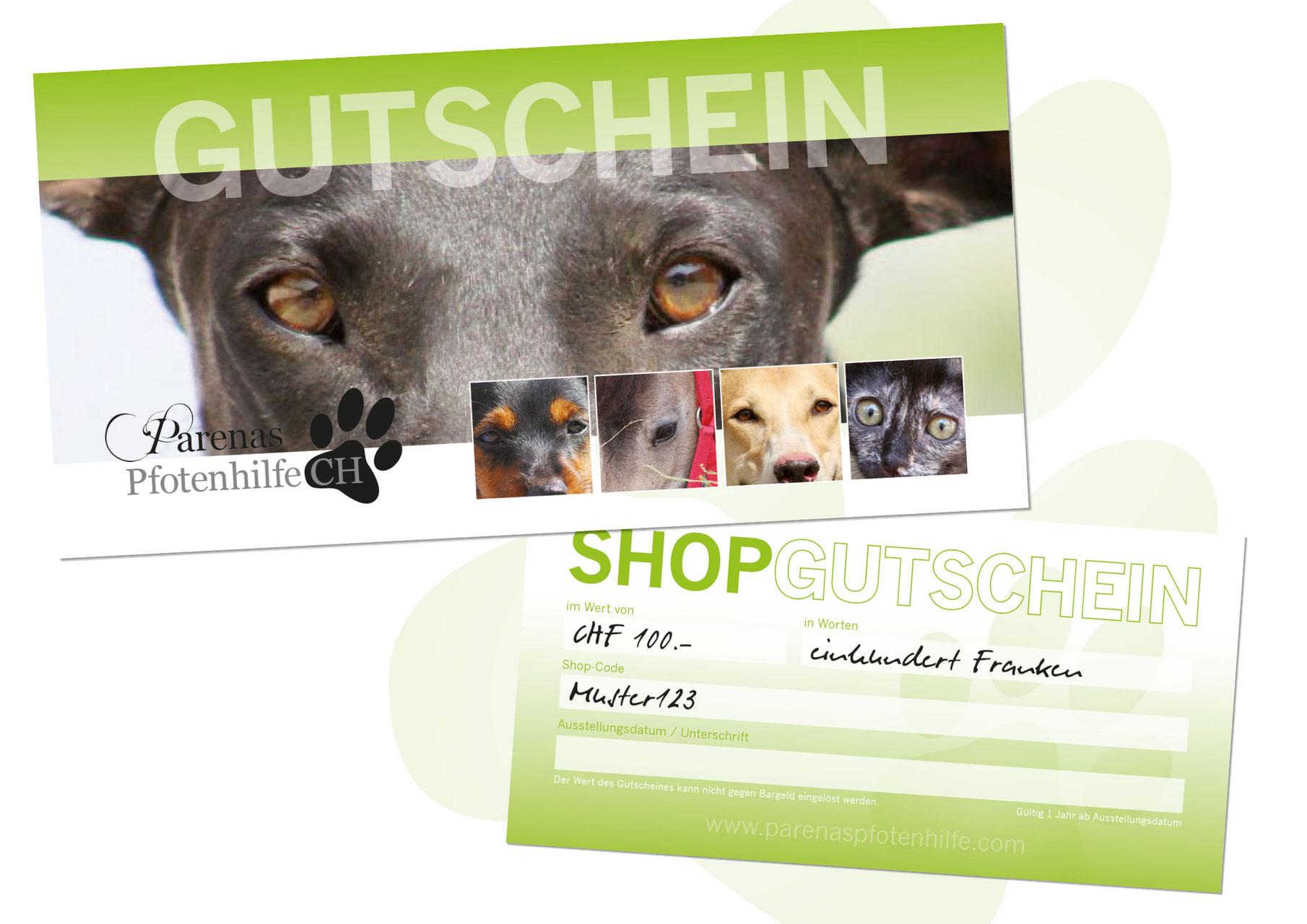 Hundeshop Gutschein