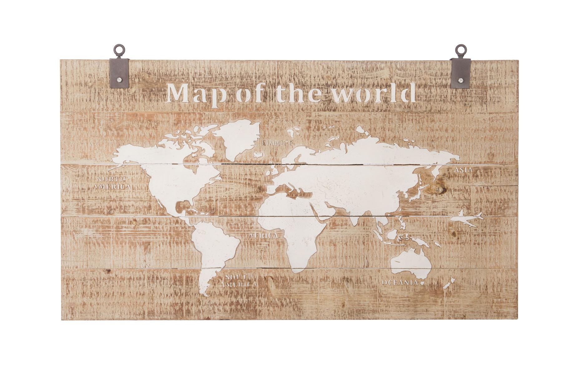 Wanddecoratie Wereldkaart Metaal.Wereldkaarten Cozy Ibiza