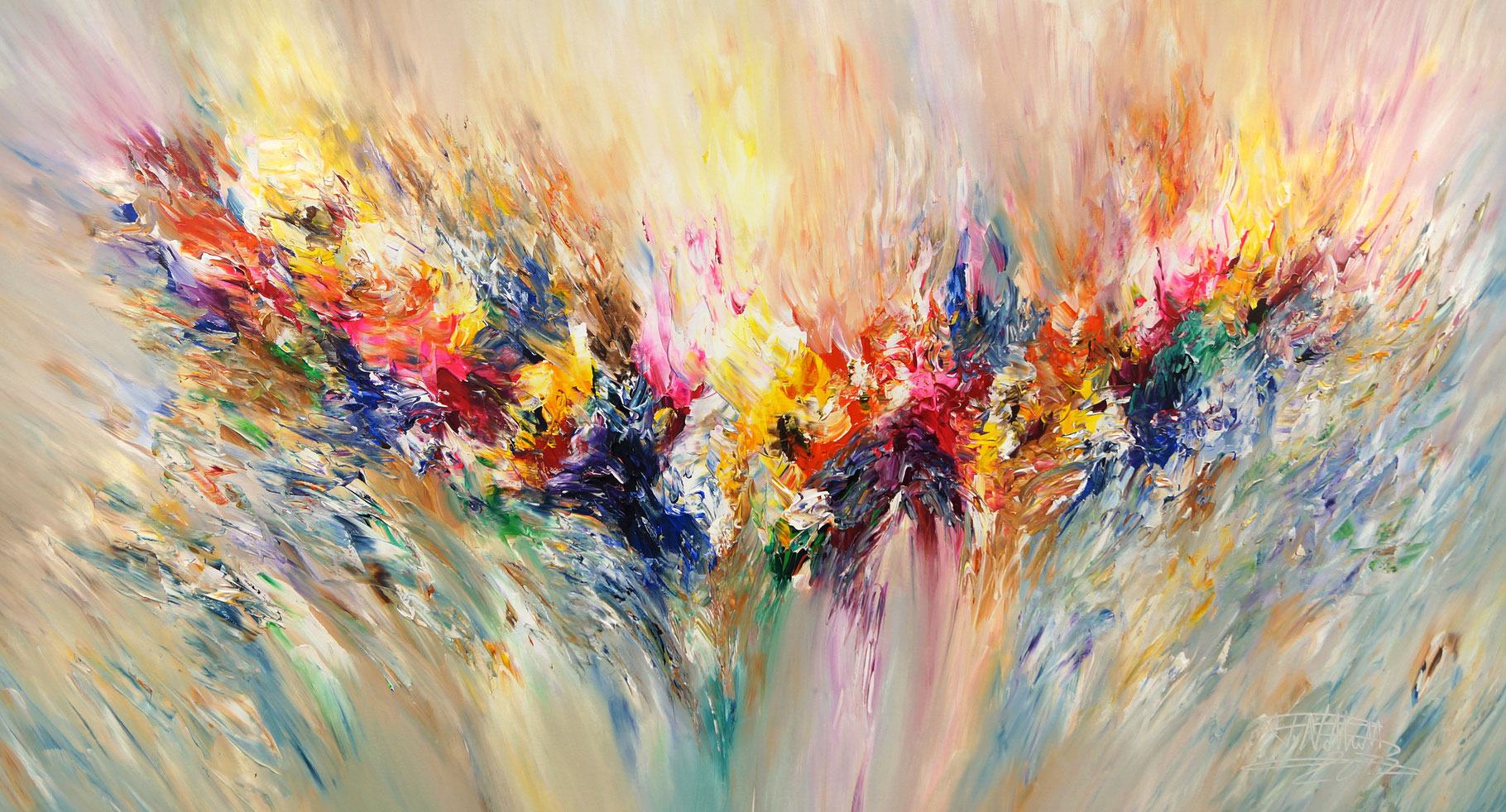 Xxl Art positive energy xxl 2 - large abstract painting art for sale