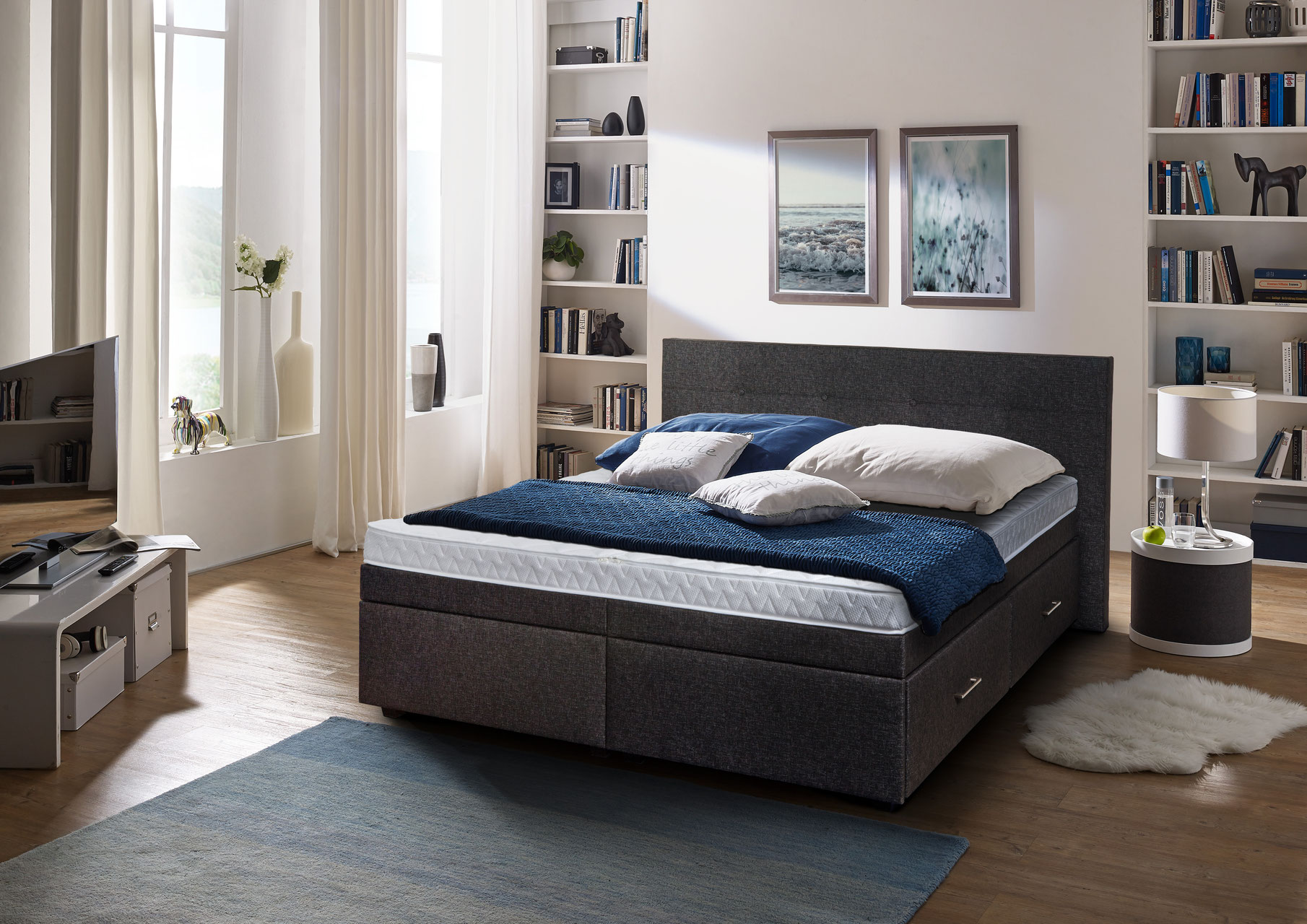 boxspring wasserbetten relax pool wasserbetten wien. Black Bedroom Furniture Sets. Home Design Ideas