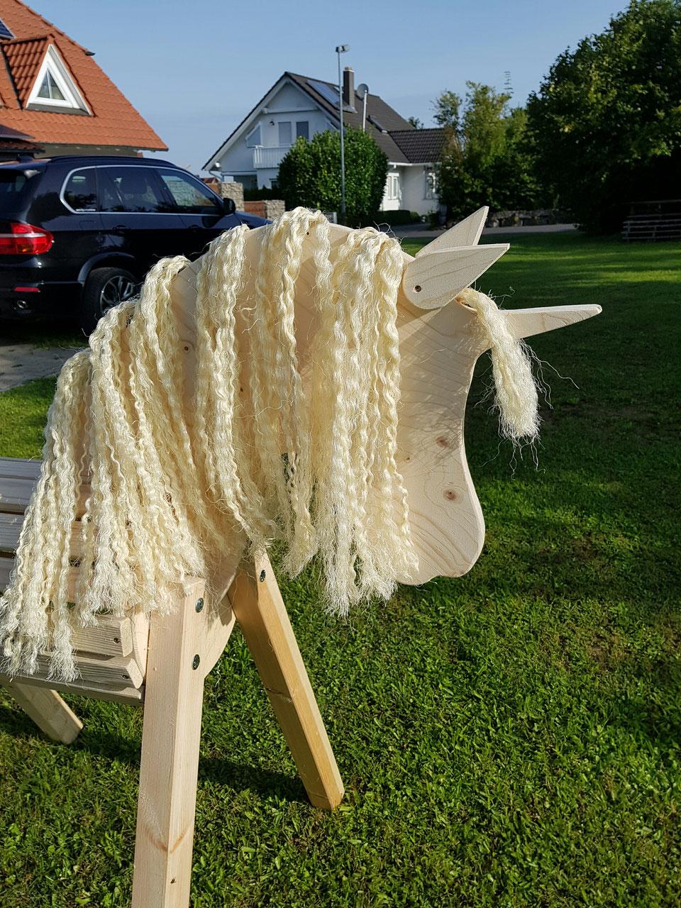 Schaukelspielzeug 80cm Holzpferd Holzpony Voltigierpferd Spielpferd Pferd Pony Onkel mit Maul NEU