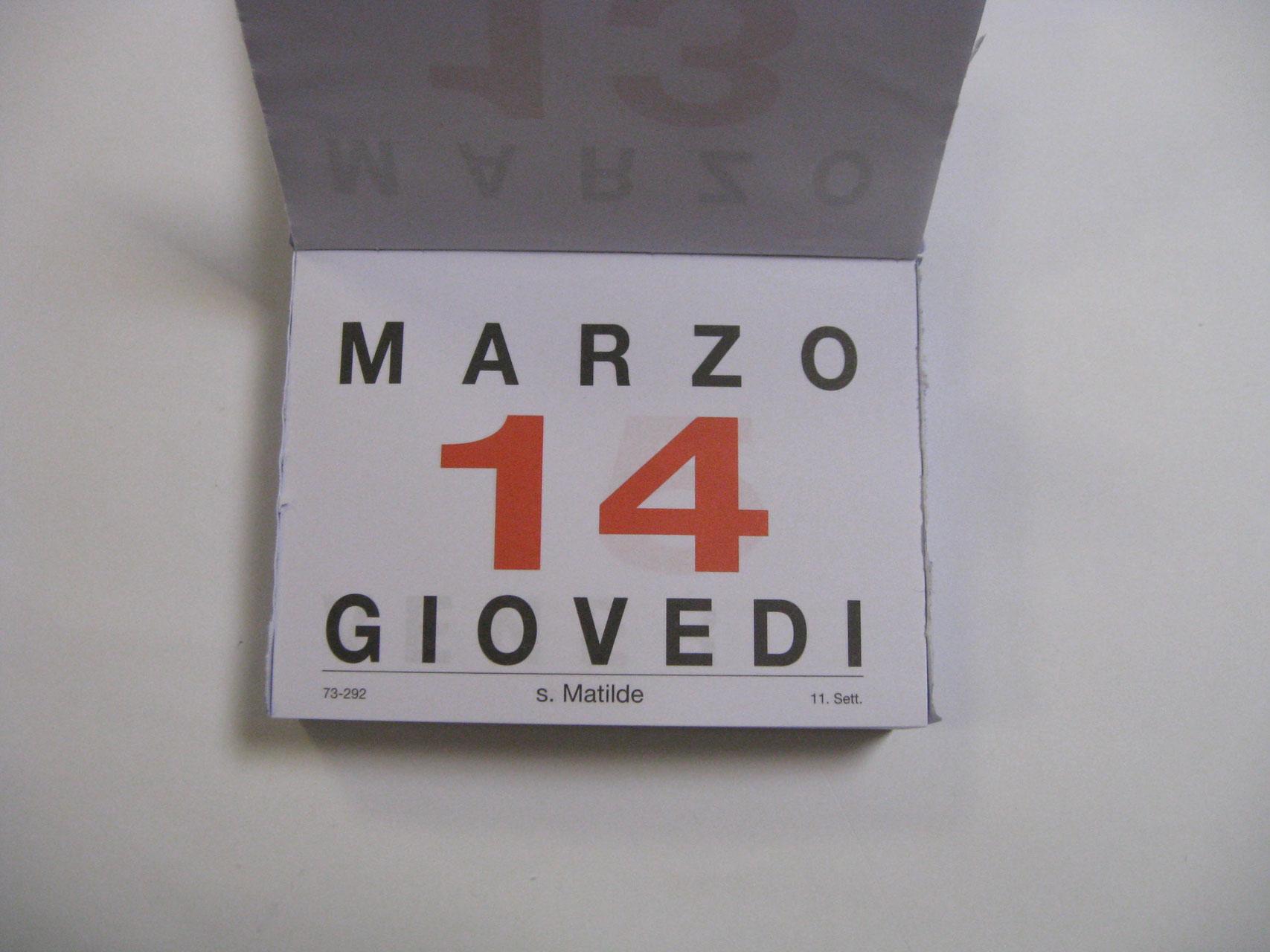 Calendario A Strappo.Blocco Ministeriale Calendario A Strappo 2019 F To 12 8 X