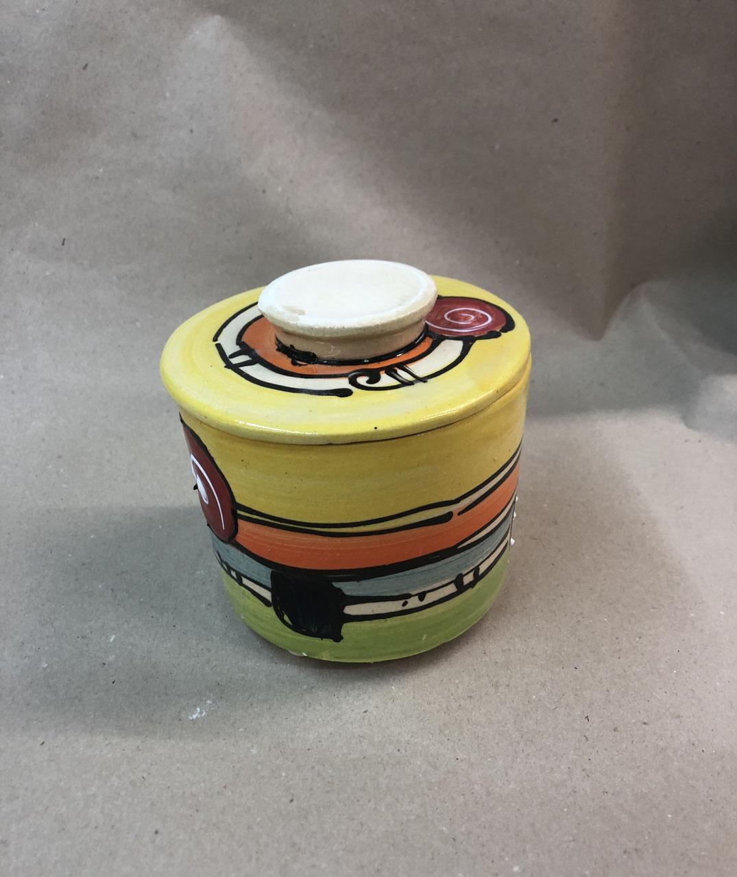 französische Wasserbutterdose für 250g Butter Keramik mit Schildkröte im Deckel