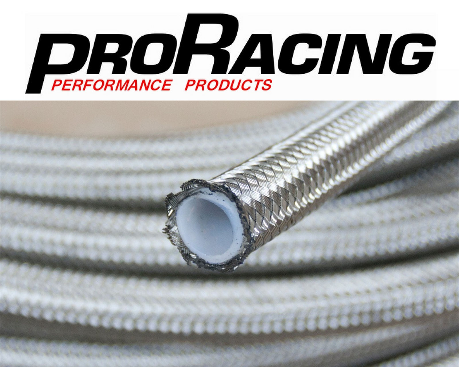 AN-4   14 In Long Stainless Steel Braid PTFE Hose Assembly both straights NC