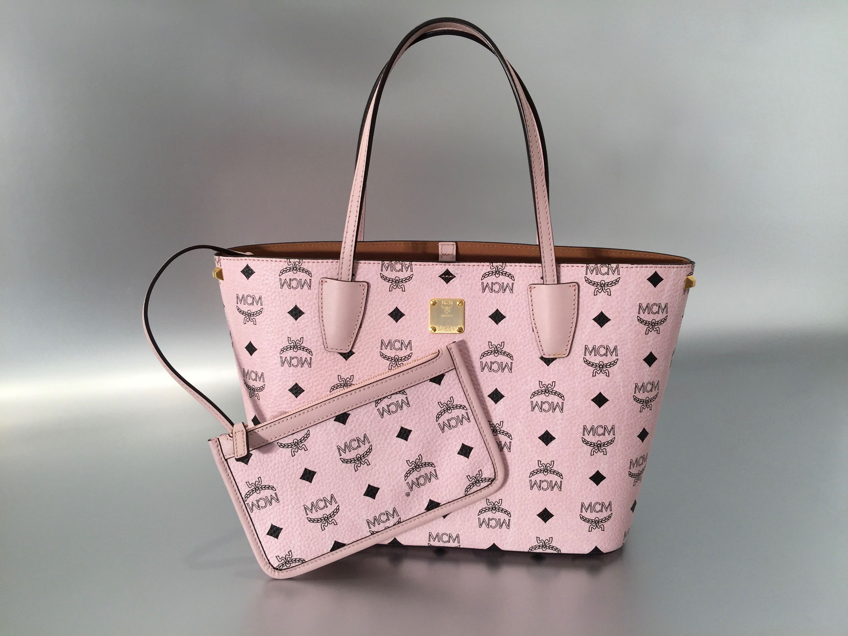 MCM Project Visetos Shopper Small in Rosa