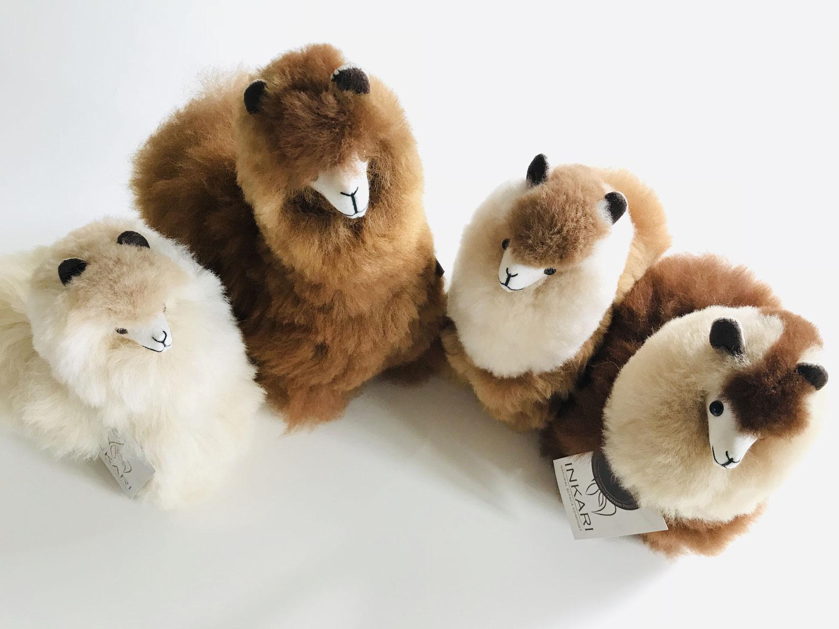 Super Fluffy Fur Llama Stuffed Animal Toy in 3 Sizes Eco-Friendly Alpaca Plushie Inkari Alpaca Soft Toy Sahara Handmade Cute Plush Alpaca Toy of Natural Alpaca Wool S