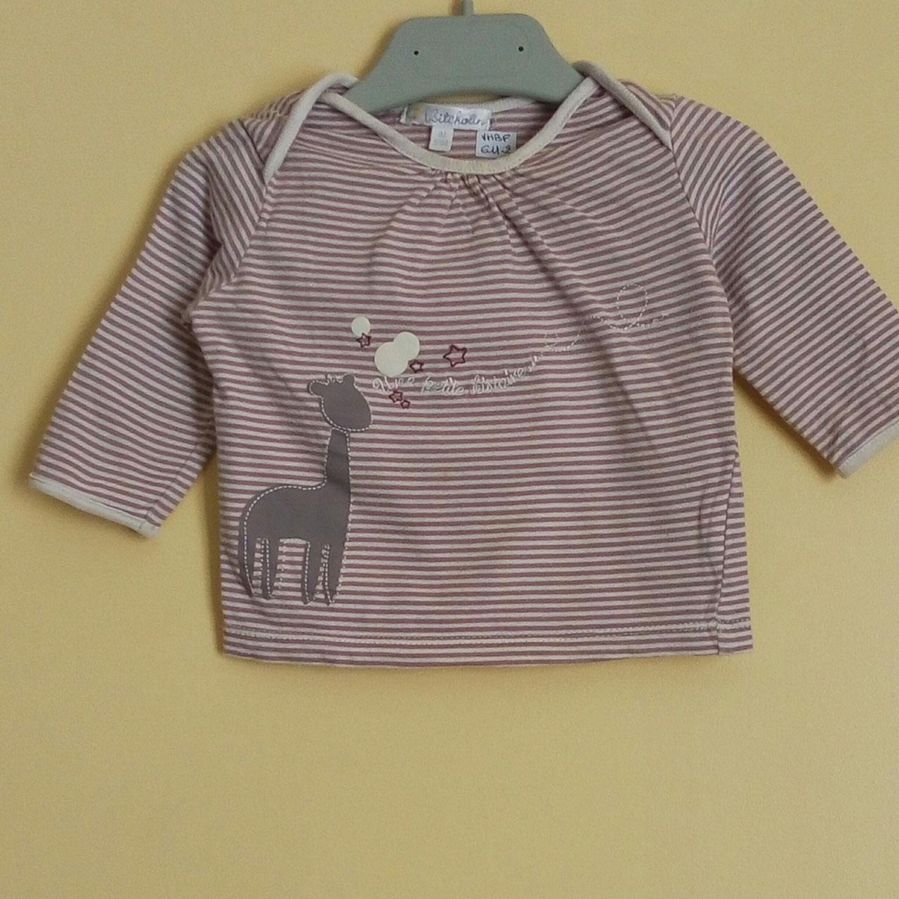 2ab88a1040c52 T-shirt manches longues Kiabi