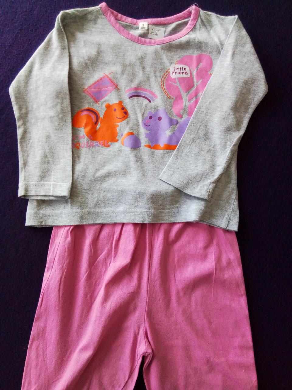 4810bbc264602 Pyjama 2 pièces 2 ans à petit prix - Chipettes-et-Galopins