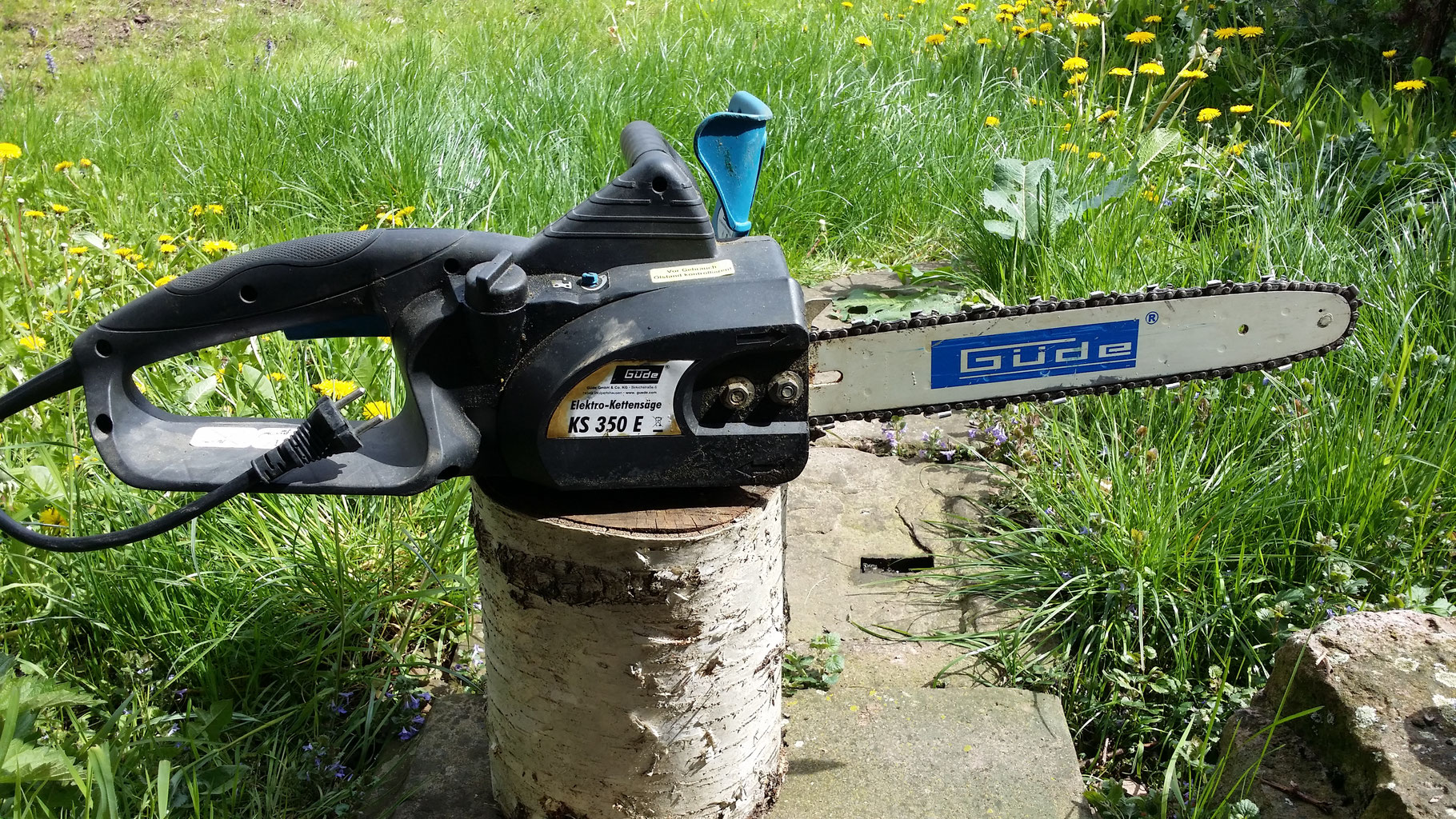 elektro-kettensäge gÜde ks 350 e - mietzeug.de - gutes werkzeug