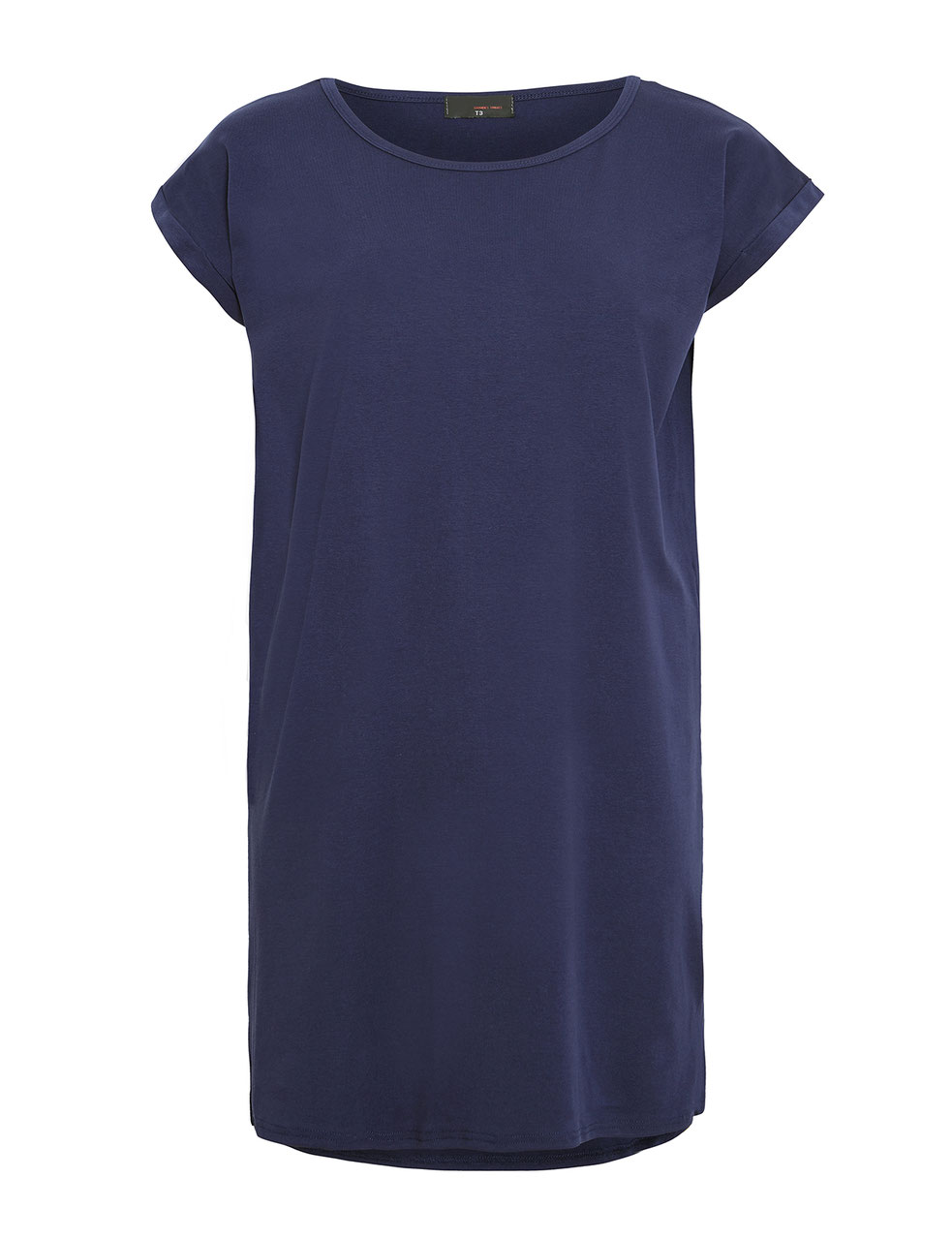 new arrival d1210 69e53 blaues T-Shirtkleid