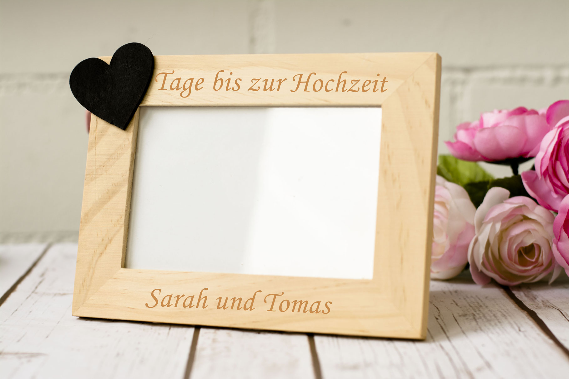 Countdown Fotorahmen - Happy Wedding Art
