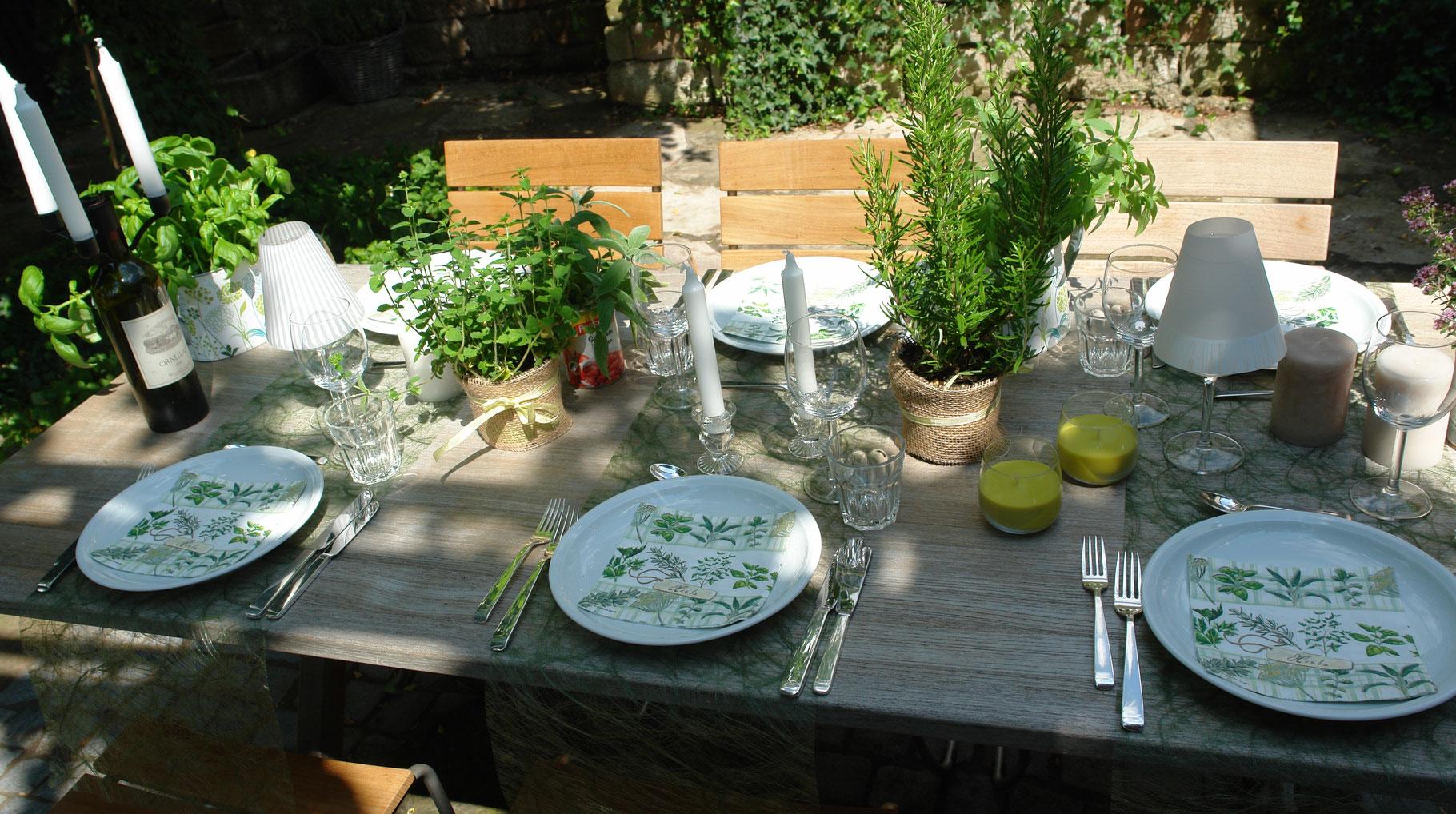 Tischdeko Mit Kräutern Stilvolle Tischdeko Sets