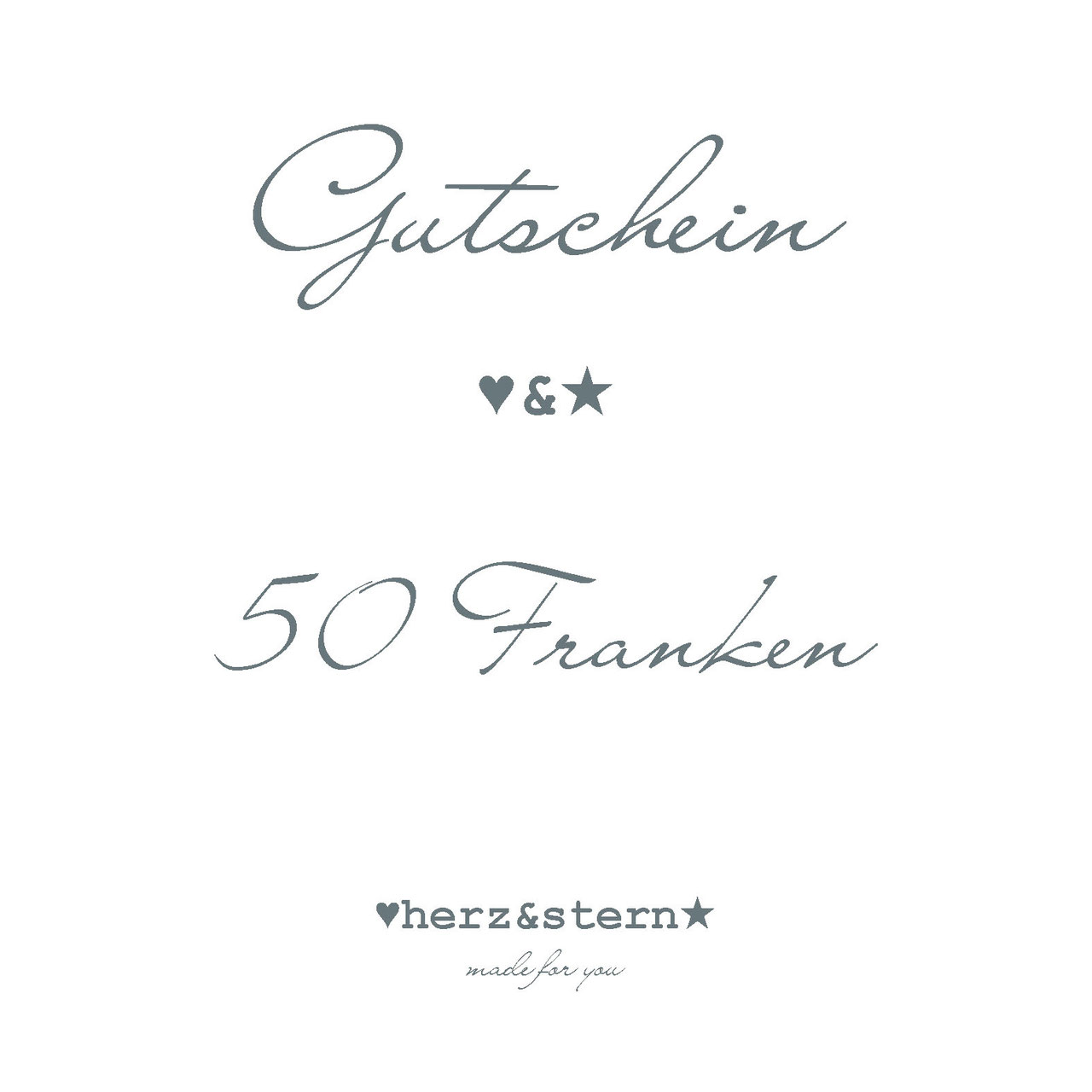 gutschein * gift card - herz&stern - Personalisierter Schmuck ...