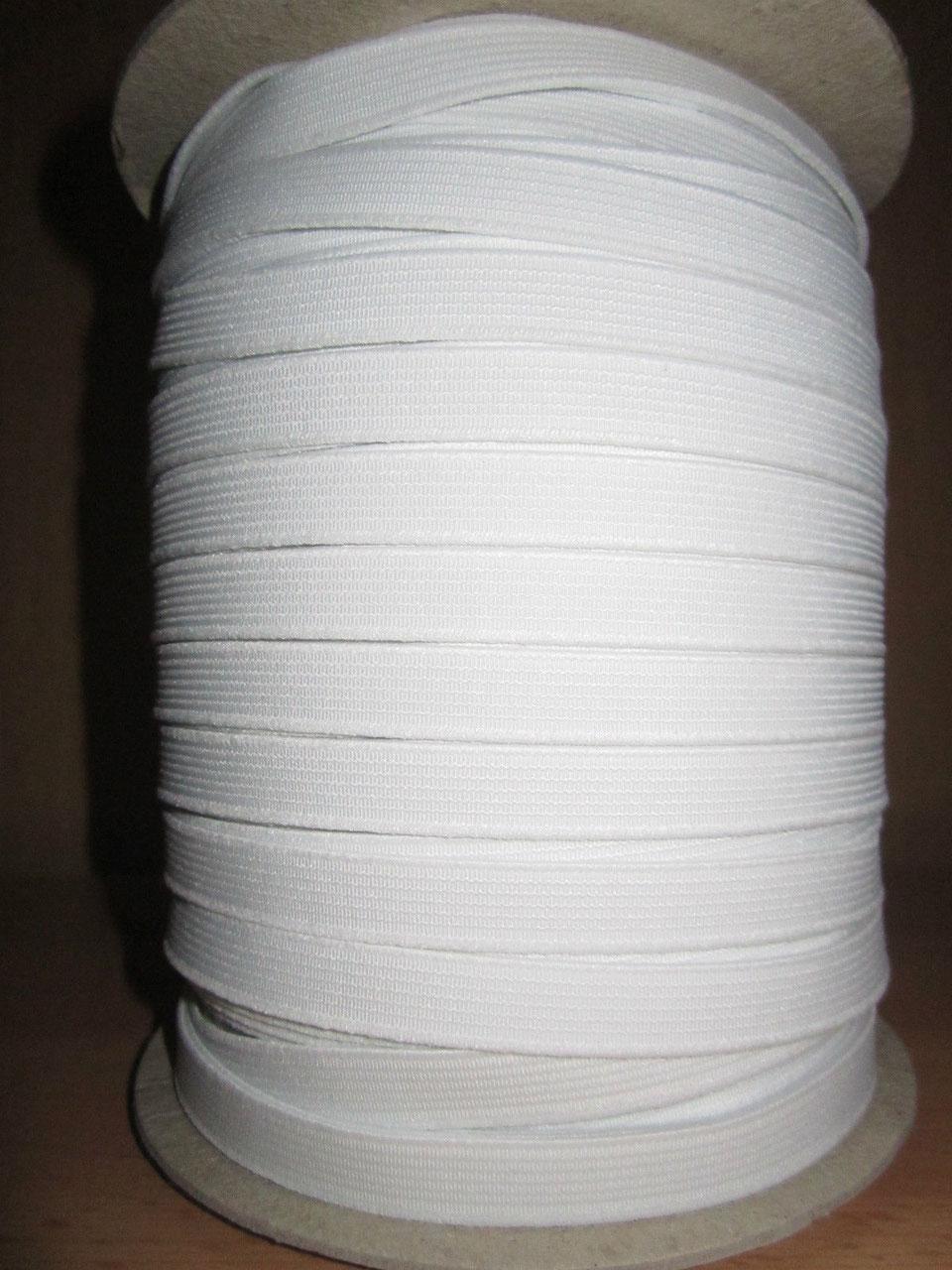 weiß 25mm breit 5m  Rolle Gummiband Farbe