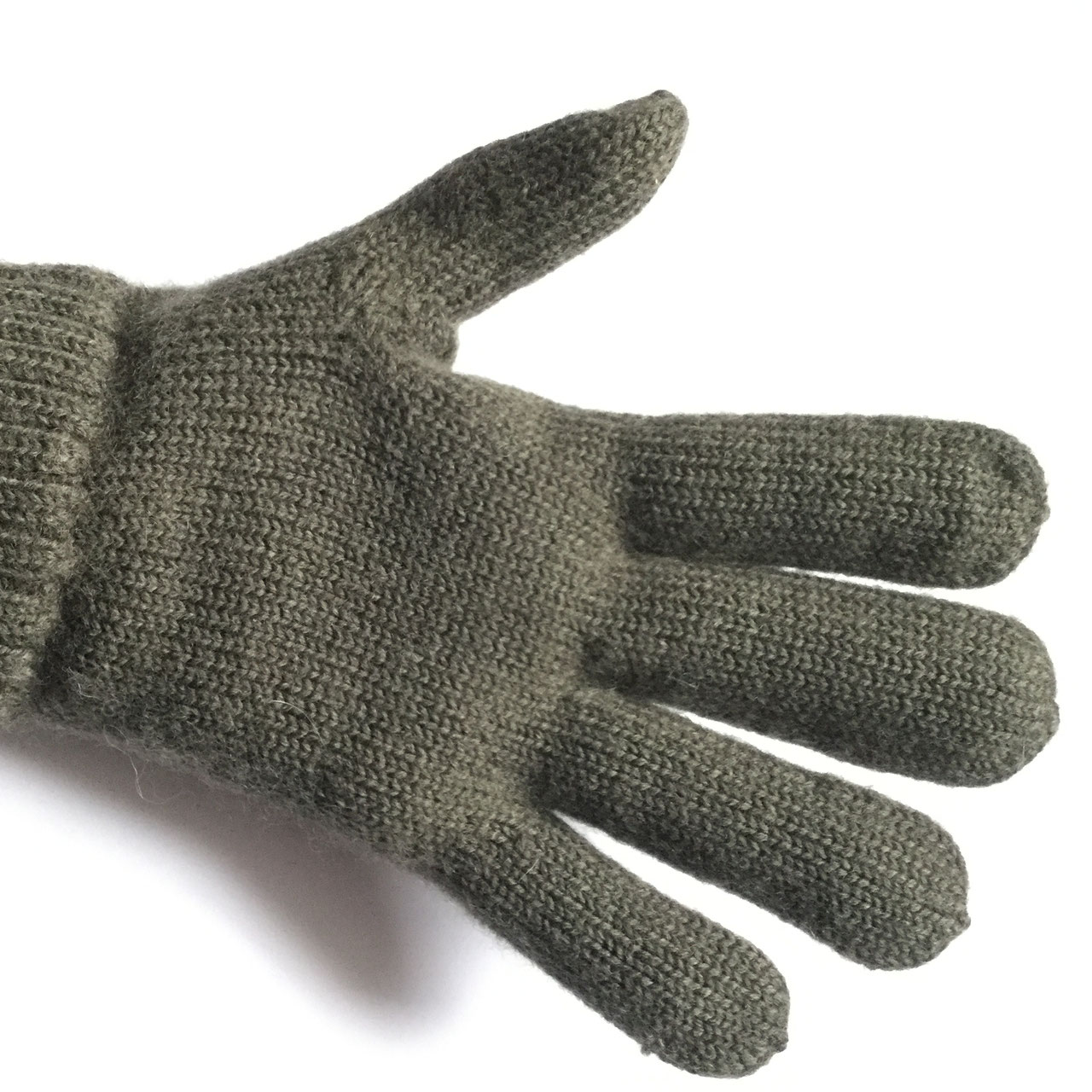 8898847a956 100% wool gloves from austria in military green. Dachstein Woolwear  Military Cuffed Gloves