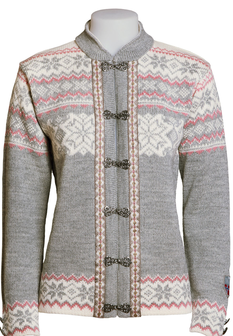 Wool Sweater Grey: Norlender Norwegian Cardigan Wool Sweater 640