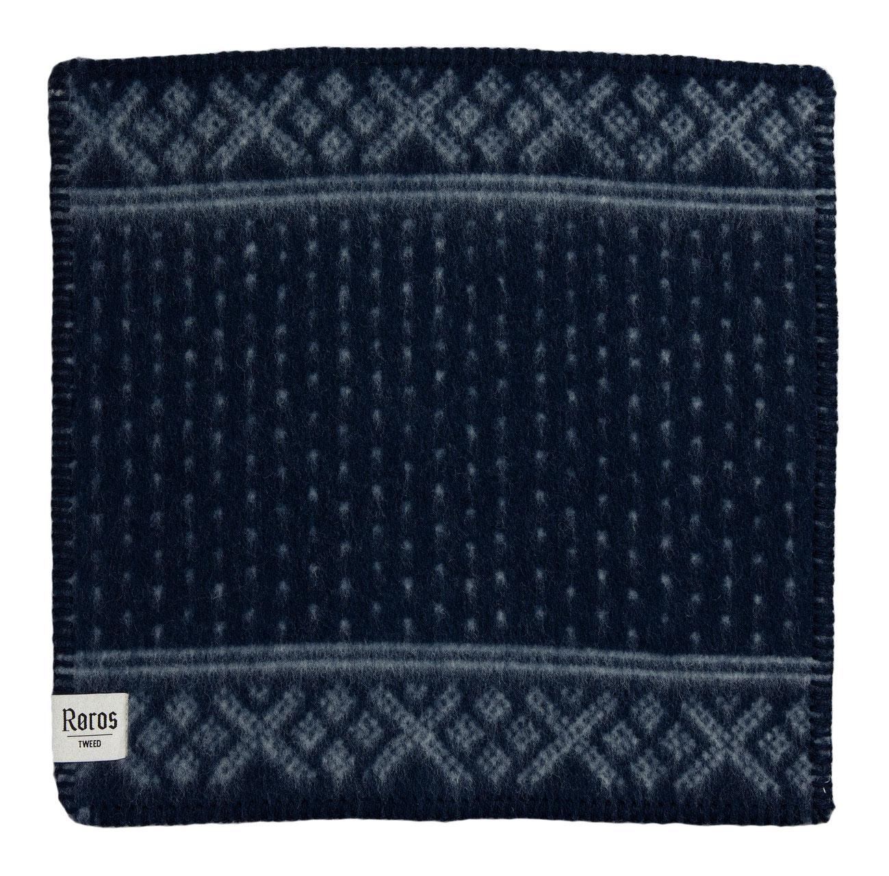Roros Tweed Designer 100/% Norwegian Wool Seating Pad Isbjorn in Blue//Natural