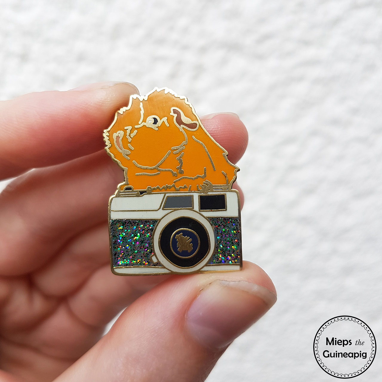 enamel pins story of a guinea pig