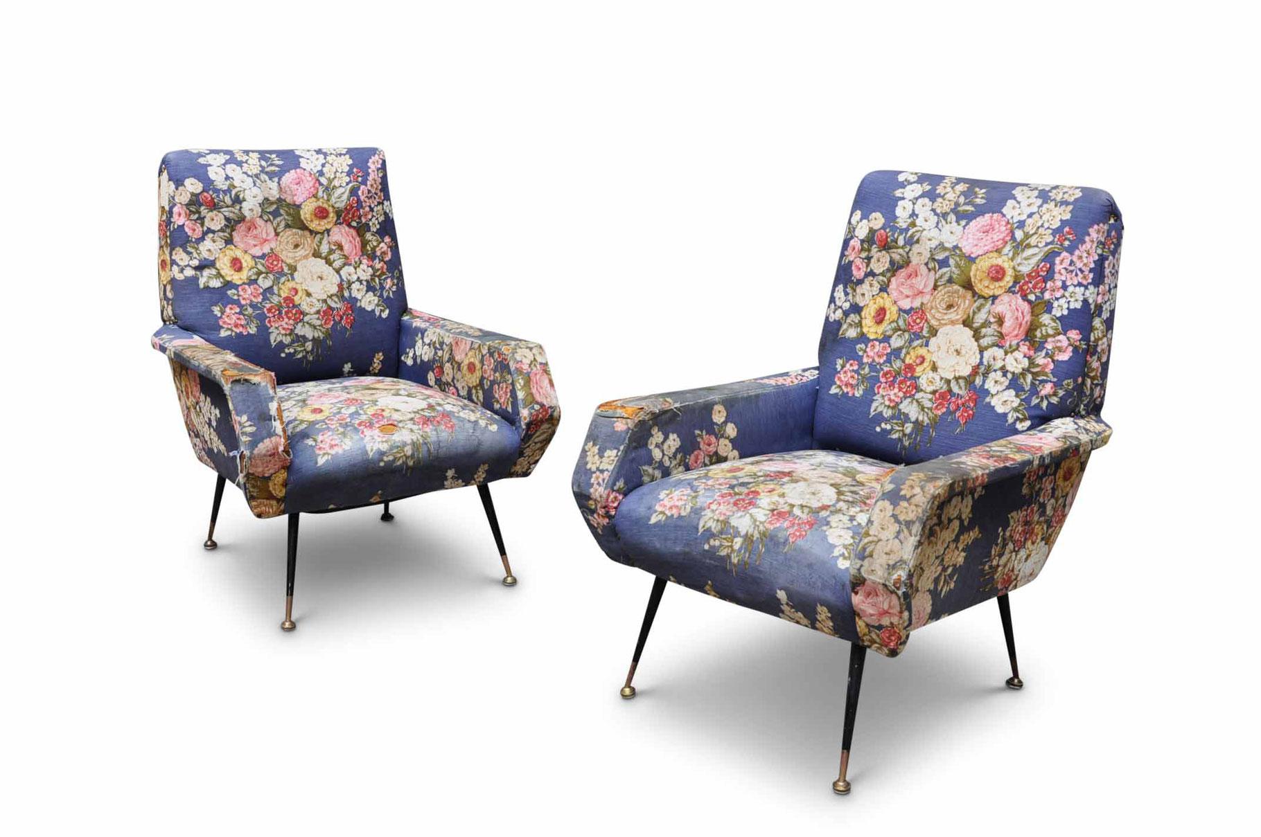 Poltrone Anni 50 60 Piedi In Ottone Italian Vintage Sofa