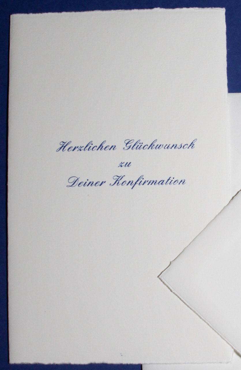 glückwünsche zur konfirmation karte