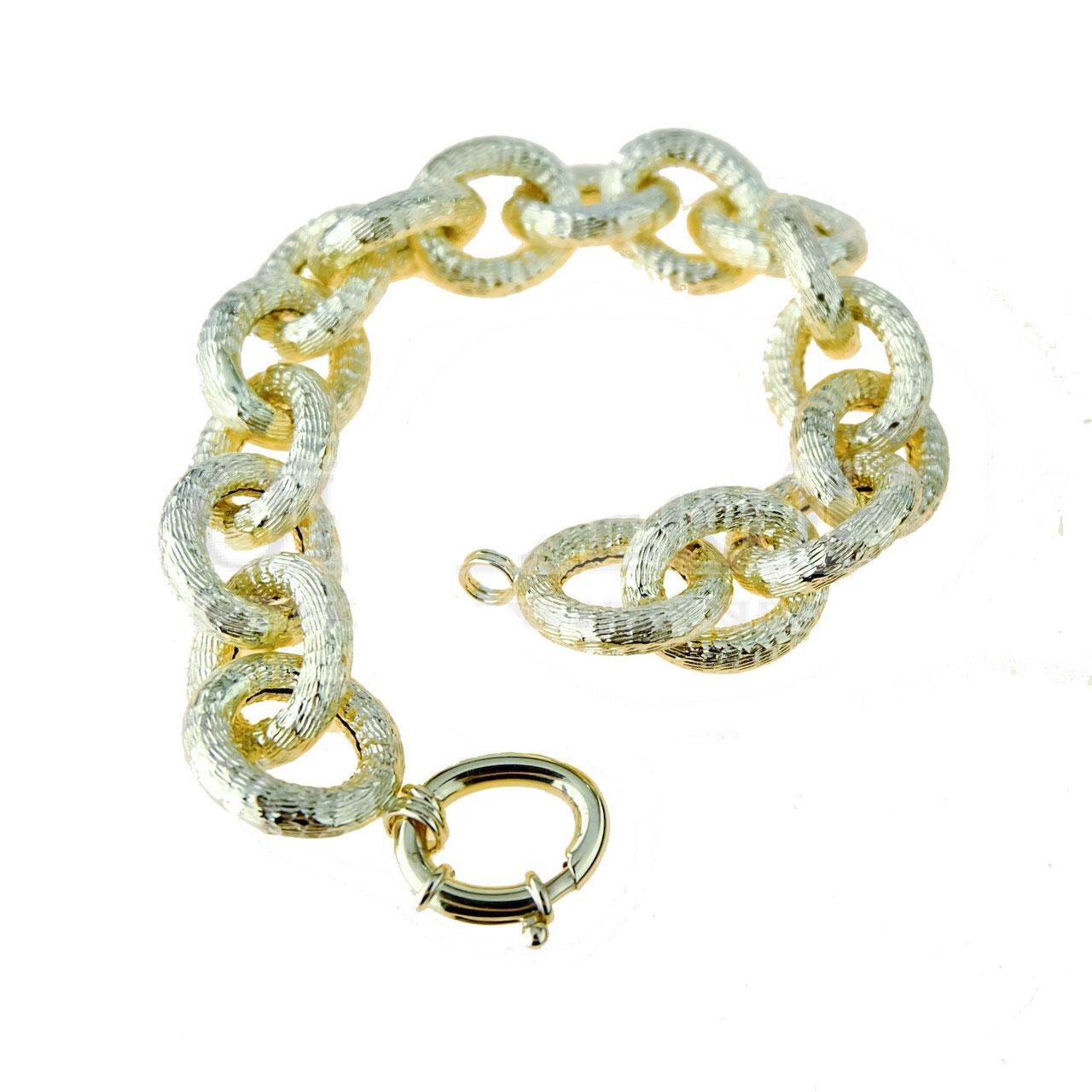 grande vendita 73dd6 36930 Bracciale Classico oro Giallo 18kt donna maglia tonda