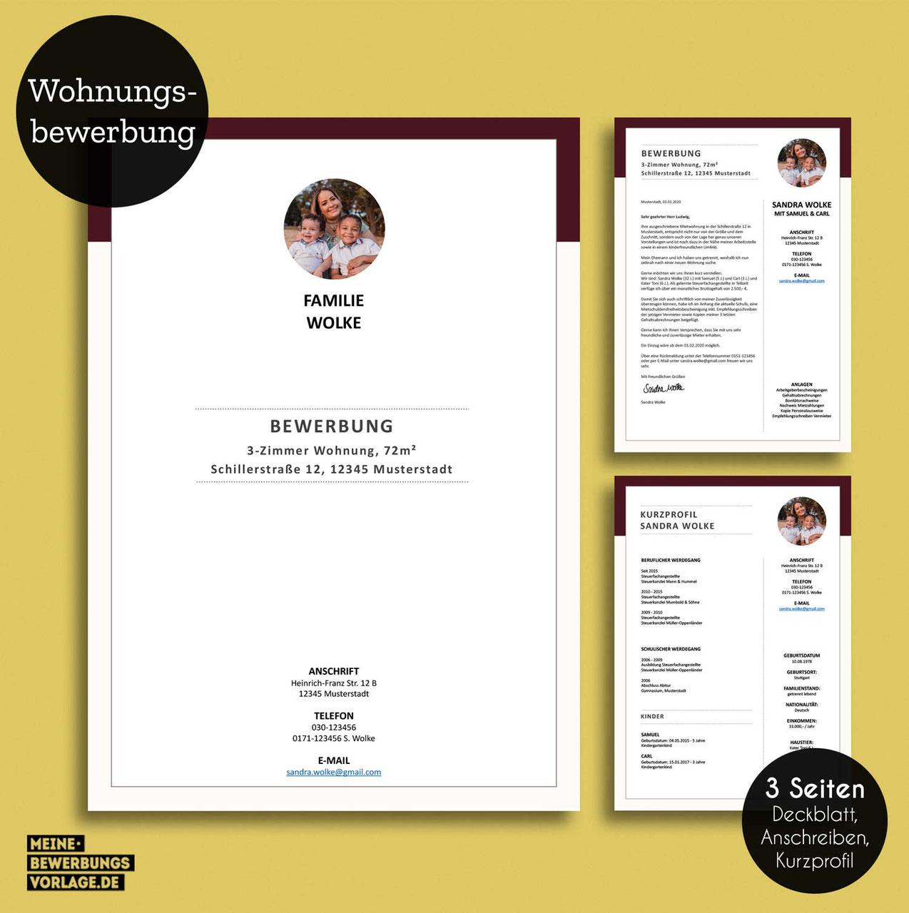 Wohnung bewerbungsschreiben Musteranschreiben für