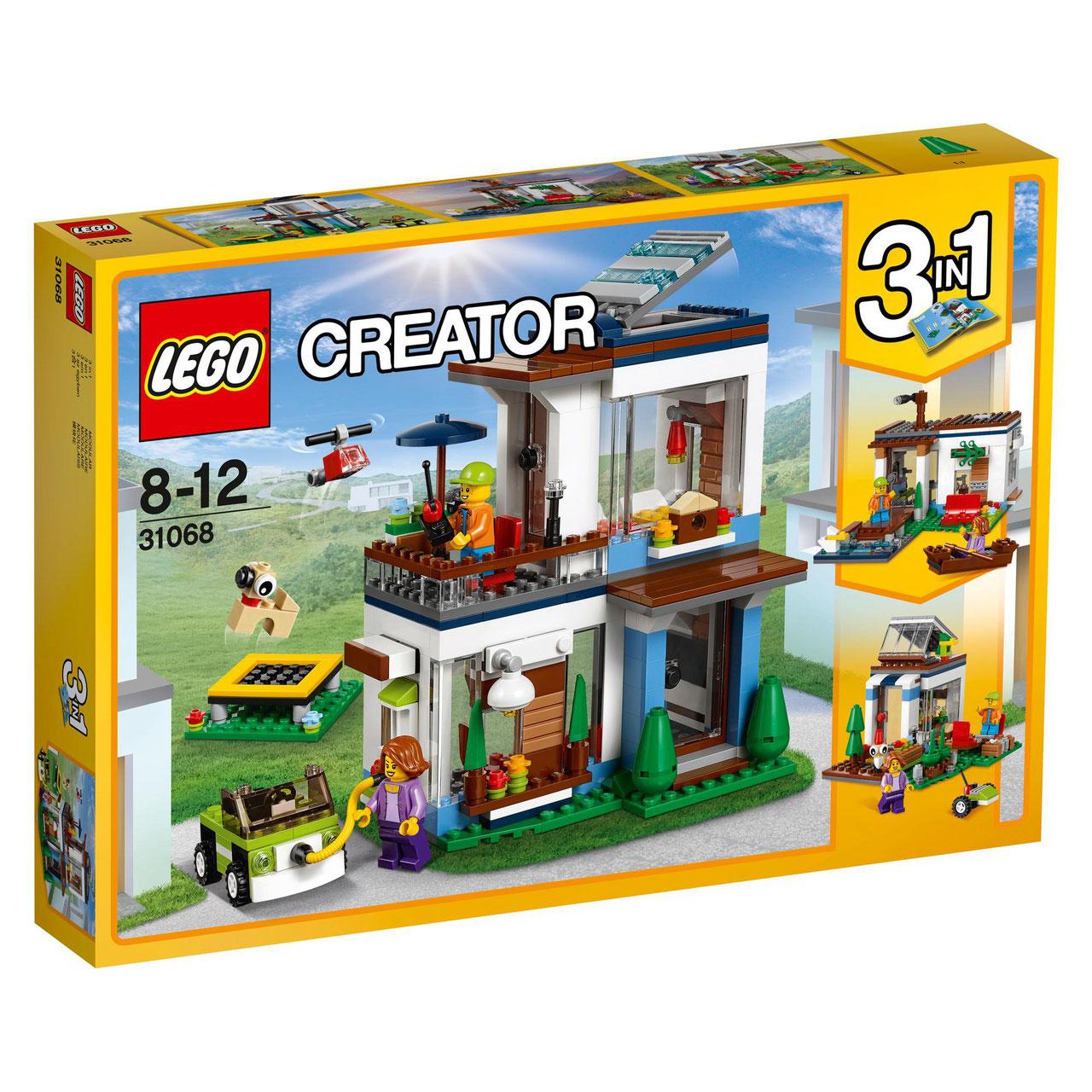 Casa moderna modular lego creator jugueteria kippu for Casa moderna lego