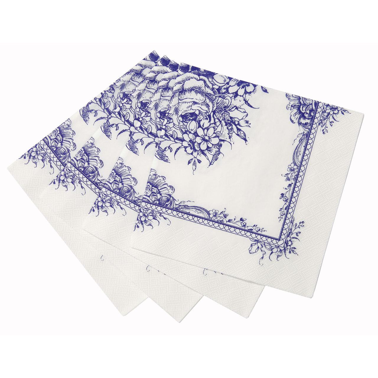 servietten porzellan blau partydeko und dekosets f r. Black Bedroom Furniture Sets. Home Design Ideas