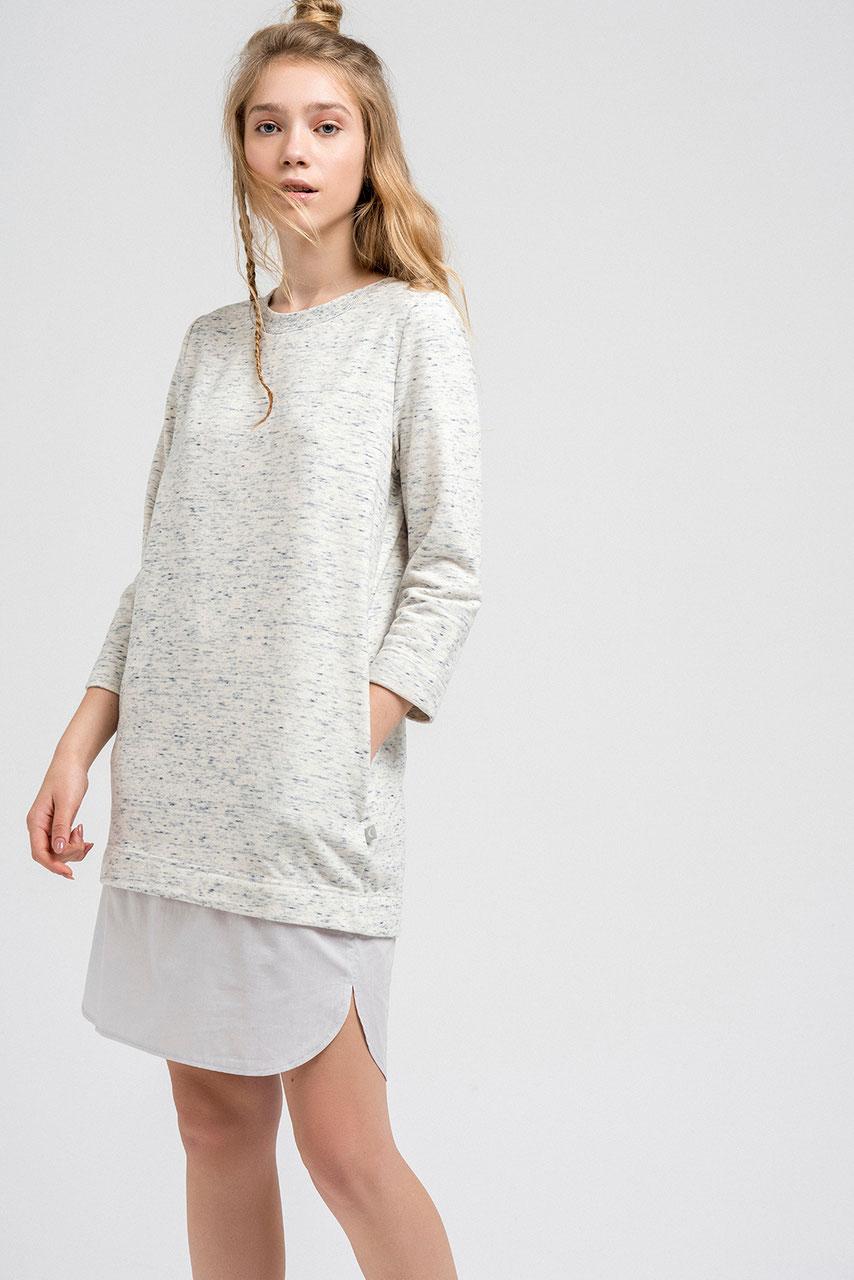 online retailer a729f a7bc6 Gemütliches Sonntags-Kleid - weiß/langarm