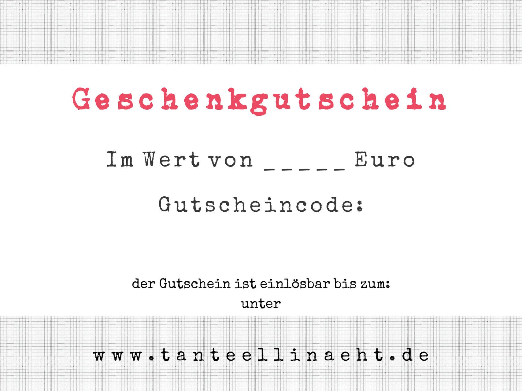 Gutscheine - tanteellinaehts Webseite!