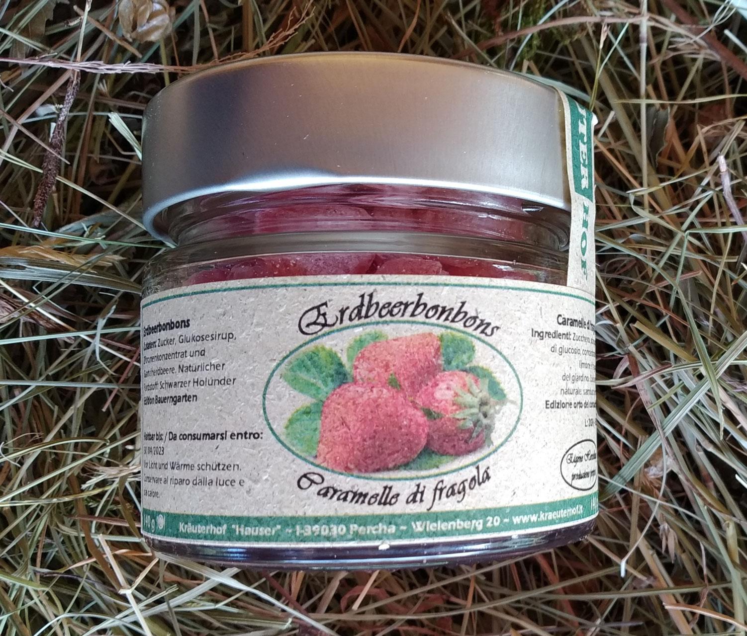 Erdbeerbonbons