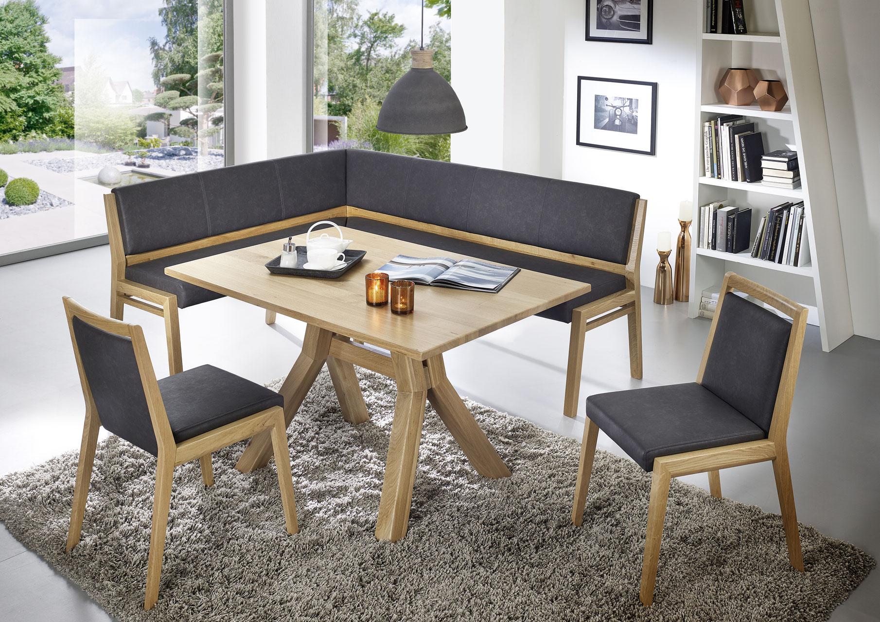 Soul Eckbank Leder - Naturnah Möbel - Moderne Massivholzmöbel