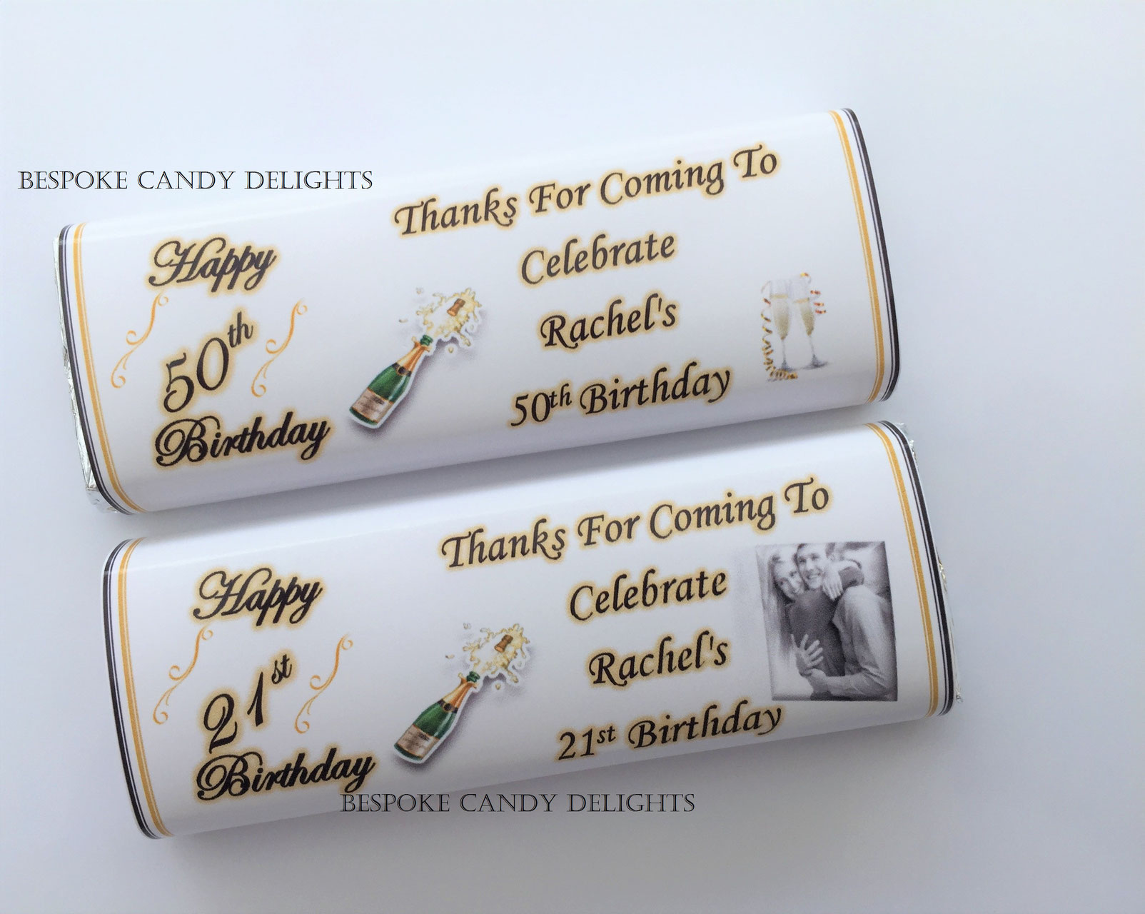 how to make personalised chocolate wrappers
