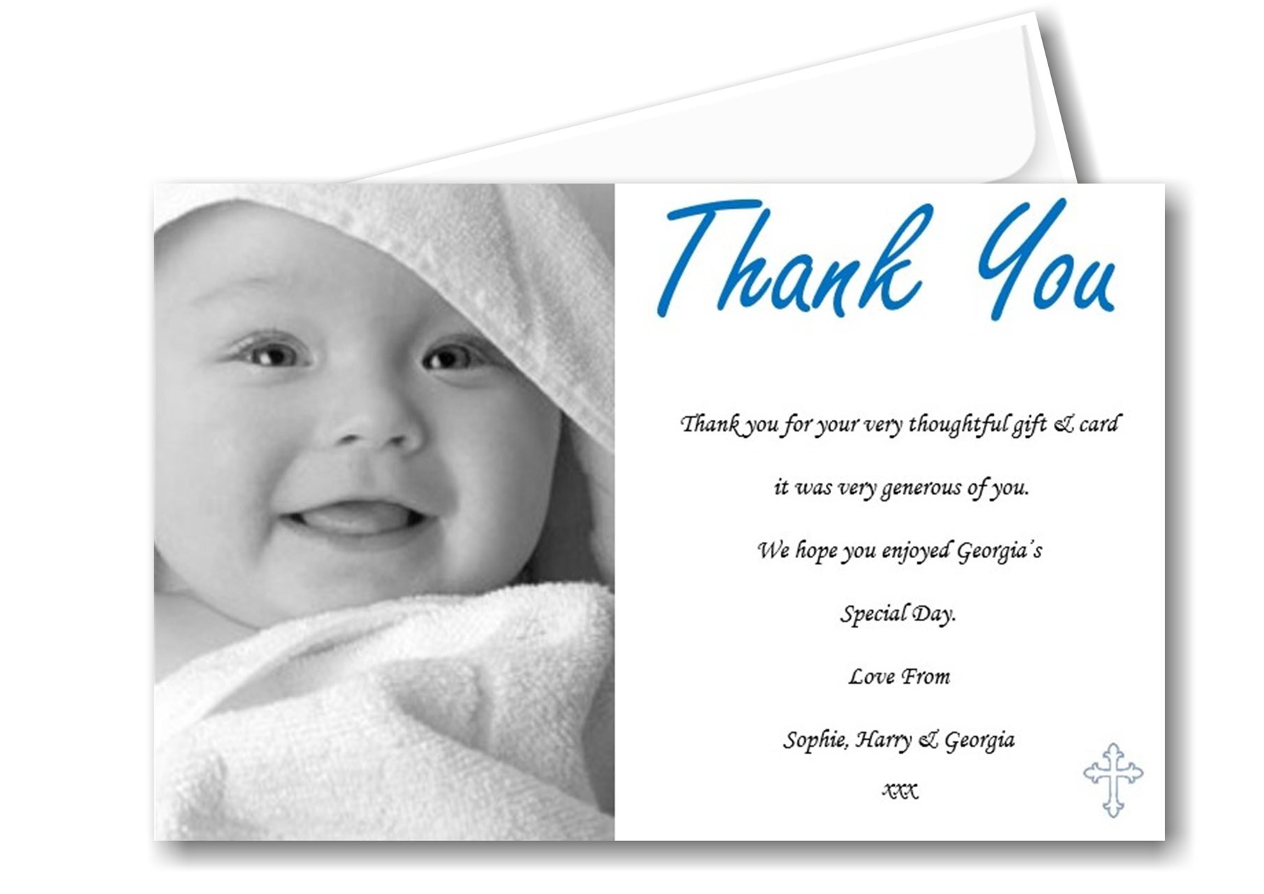 Thank You Cards Christening Communion Bespoke Candy Delights