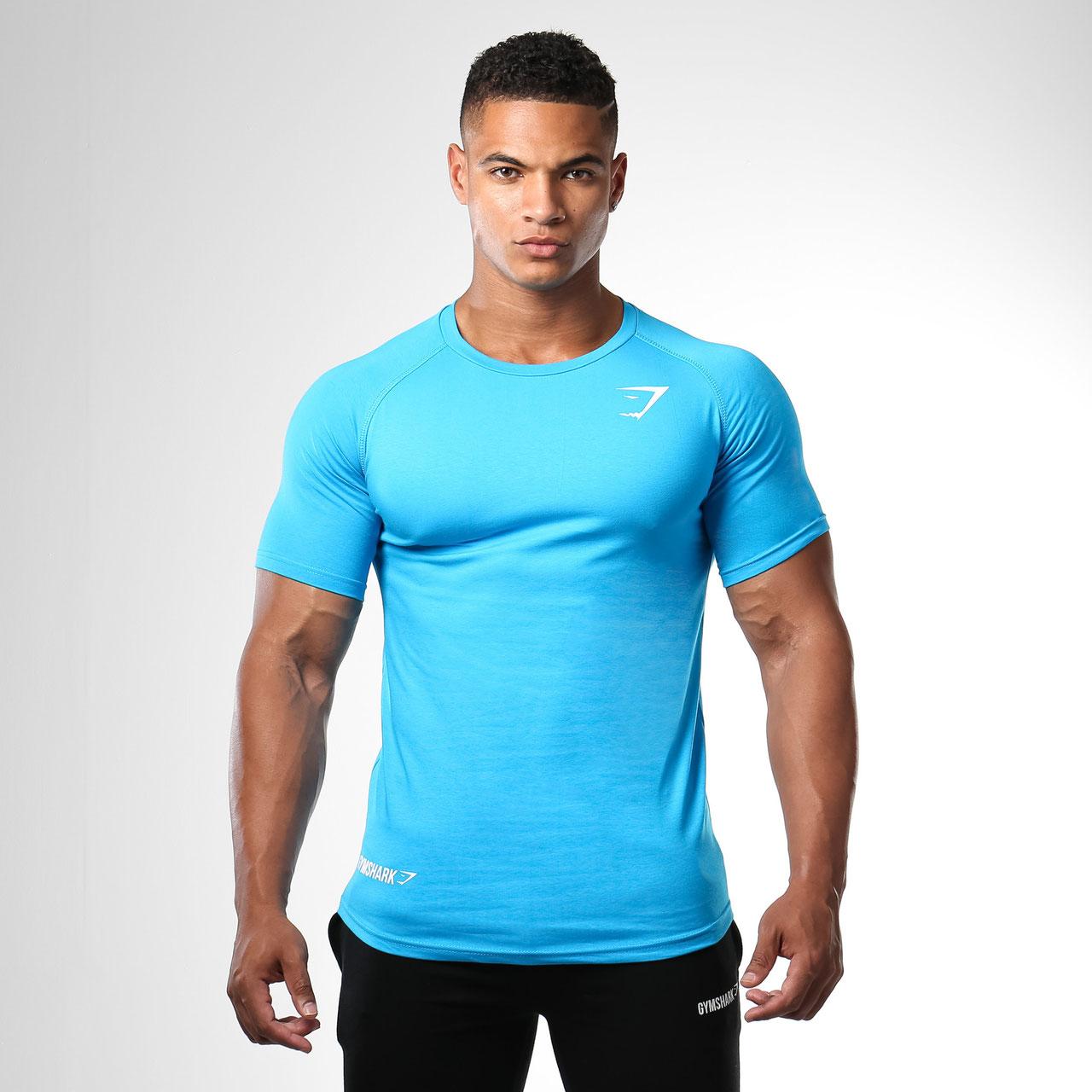 Gymshark Form Fitted T Shirt Blue Gymshark Sportelano