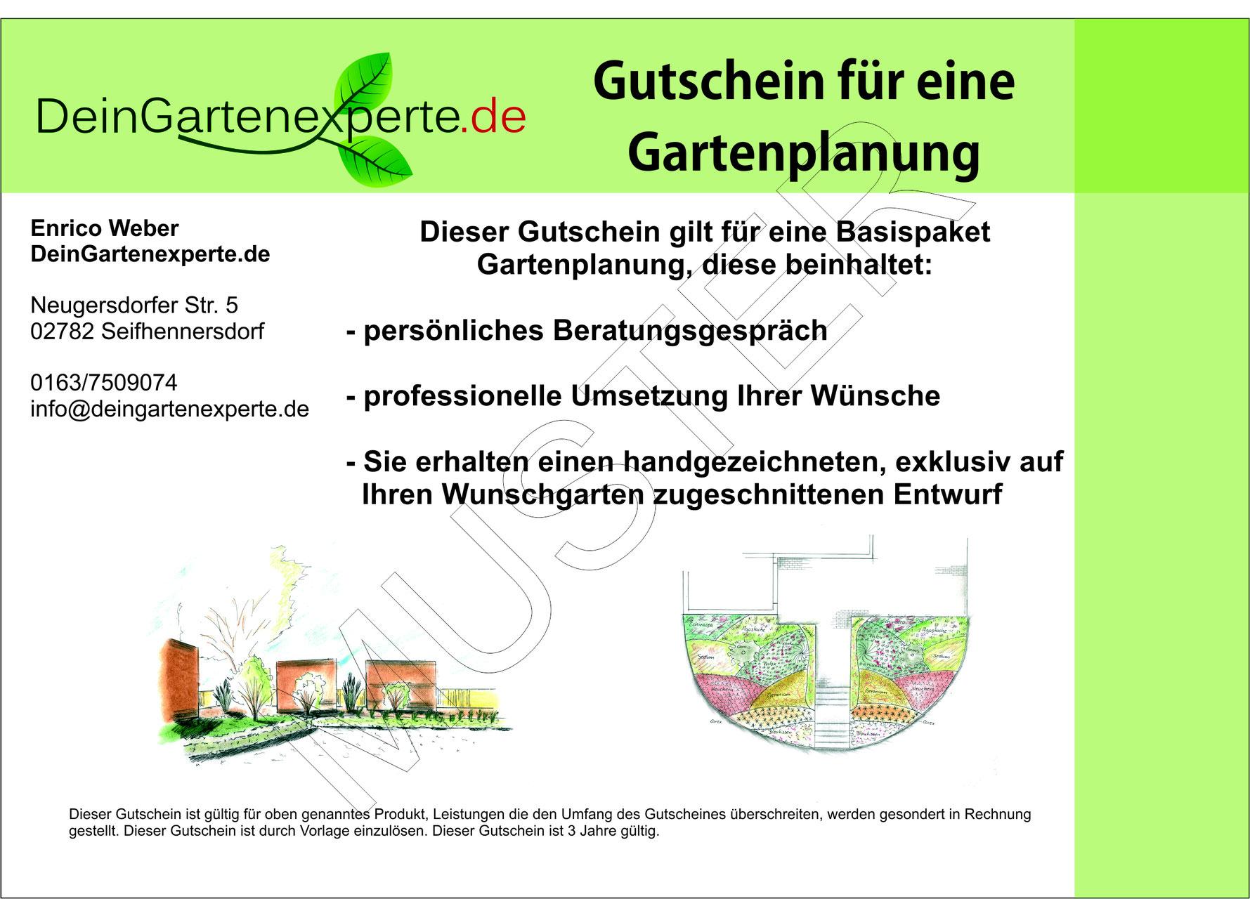 Gutschein - Online Gartenplanung, individuelle Gartenplanung, Planung